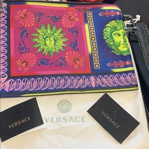 Versace multicolor pouch, new, original with tag